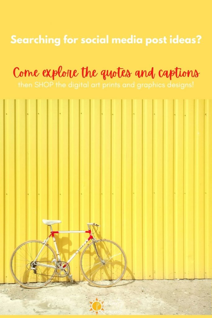 Searching-for-social-media-post-ideas-bike-yellow-wall-image